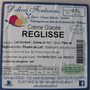Crème glacée Réglisse